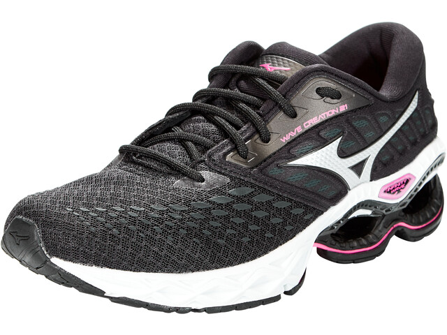 Mizuno Wave Creation 21 Schoenen Dames, black/phantom/pink glo